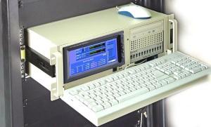 PCR-en rack con teclado y video
